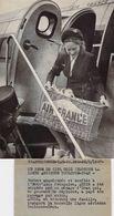 """PHOTO DE PRESSE / AVIATION / AIR FRANCE """" Bébé Inaugurant La Ligne Toulouse / Oran"""" / 1947 - Aviation"""