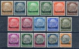LUXEMBURG 1940 Overprint On Hindenburg Definitives LHM / *.  Michel 1-16 - Occupation 1938-45