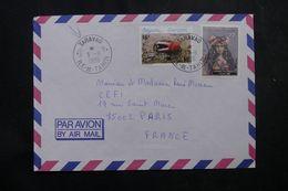 POLYNÉSIE - Affranchissement De Taravoa Sur Enveloppe Pour La France En 1986 - L 64084 - Polynésie Française