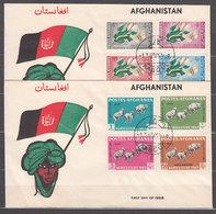Afganistan Correo Yvert 595/9+A.39/41 Sobre 1� D�a Fauna Mariposas - Afghanistan