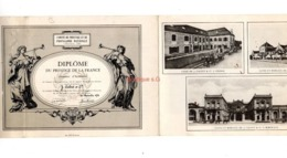 Diplome Prestige De La France Citation Honneur J Calvet 1958 Vins Bordeaux Beaune Cognac - Documents Historiques
