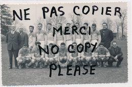 Carte Photo ( Rigidité Et Format C.P.A ) équipe De Football  U.S.O.N. ( équipe De NEVERS 58 ) - Nevers