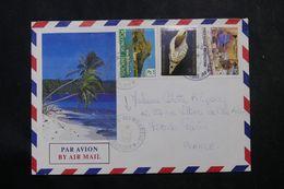 POLYNÉSIE - Affranchissement De Mangareva Sur Enveloppe En 1988 Pour La France - L 64092 - Polynésie Française