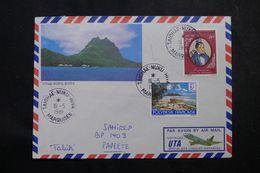POLYNÉSIE - Affranchissement De Taiohae-Nuku-Hiva Sur Enveloppe En 1981 Pour Papeete - L 64094 - Polynésie Française