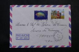 POLYNÉSIE - Affranchissement De Patio-Tahaa Sur Enveloppe En 1984 Pour Papeete - L 64095 - Polynésie Française