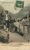 Cauterets Guide à La Montagne Champion D'endurance Des Guides Du 14 Juillet 1904 1er Jean Marie Bordenave Colorisée RV - Cauterets