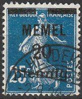 Memel 1920 N° 20 Semeuse Surchargée (E14) - Usati