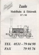 Catalogue ZAADE Modellbahn & Elektronic 1997/98 HO TT N - Allemand