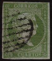 ✔️ Spain Espãna 1855 - Isabella II Filigrana Lazos - Ed. 39 (o) - 1850-68 Royaume: Isabelle II