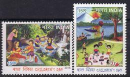 India 2016 Childrens Day Set Of 2, MNH, SG 3190/1 (E) - India