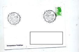 Lettre Cachet Dijon Art Et Gastronomie Theme Fruit Poisson Coquillage - Marcophilie (Lettres)