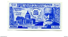 Billet Scolaire école (500F / 5NF Victor Hugo) 1959 - Armand Colin - School Bank Note - Specimen