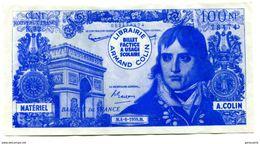 Billet Scolaire école (10000F / 100F Bonaparte) 1959 - Armand Colin - School Bank Note - Specimen