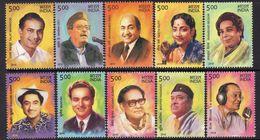 India 2016 Legendary Singers Set Of 10, MNH, SG 3220/9 (E) - India