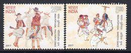 India 2017 Dances Set Of 2, MNH, SG 3245/6 (E) - India
