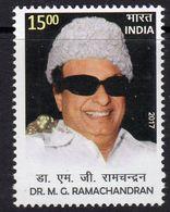 India 2017 Dr M.G. Ramachandran Birth Centenary, MNH, SG 3248 (E) - India
