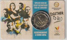 Belgique 2016 Coincard 2 Euro Jeux De Rio - Bélgica