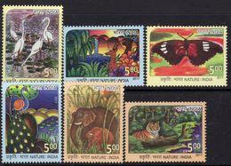 India 2017 Nature Stamp Design Competition Set Of 6, MNH, SG 3249/54 (E) - India