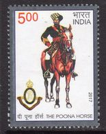 India 2017 Bicenteary Of Poona Horse Regiment, MNH, SG 3273 (E) - India