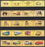 India 2017 Transport Through The Ages Set Of 20, 5 X Strips Of 4, MNH, SG 3281/300 (E) - India