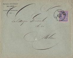 Belgique Lettre Banque Générale De Liége. - 1883 Leopold II