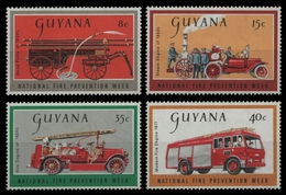 Guyana 1977 - Mi-Nr. 522-525 ** - MNH - Feuerwehr / Firefighters - Guyane (1966-...)