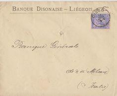 Belgique Lettre Banque Disonaise Liégeois.. - 1883 Leopold II