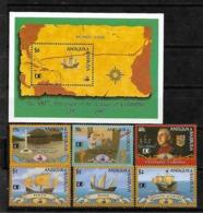 &BAR-63& ANTIGUA & BARBUDA  MICHEL 1647/1652+ BL 237 MNH** COLUMBUS, SHIP. - Antigua Und Barbuda (1981-...)