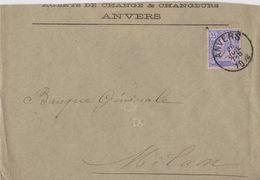 Belgique Lettre Agents De Change Et Changeurs Anvers... - 1883 Leopold II