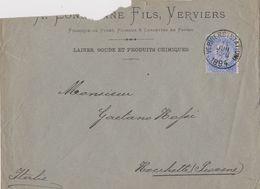Belgique Lettre 1894 Verviers. - 1883 Leopold II