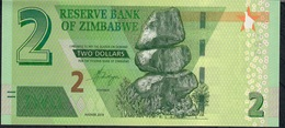 ZIMBABWE NLP 2 DOLLARS 2019 UNC. - Simbabwe
