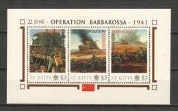 Nevis - MNH Sheet J2 WORLD WAR 2 - OPERATION BARBAROSSA - Seconda Guerra Mondiale