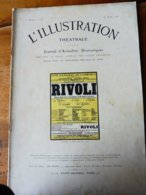 RIVOLI , De René Fauchois  (origine : L'ILLUSTRATION  THÉÂTRALE 1911 ) Dos Illustré Par O' Galop Pour MICHELIN - Theatre