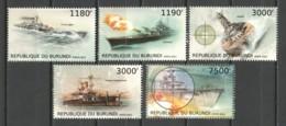 Burundi 2012 Mi 2873-2877 MNH WAR SHIPS - Schiffe