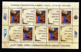 San Marino 2009 - BF102 - Giornata Della Lingua Italiana Mnh - Blocs-feuillets