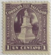 El Salvador - A1/3 - (°) Used - 1924 - Standbeeld Daniël Hernandez - El Salvador