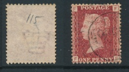 GB, 1864 Penny Red SG43, Plate 115 ,undamaged And Fine - Used Stamps