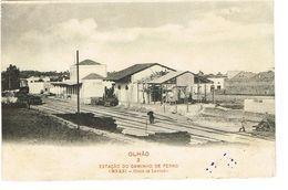 PORTUGAL-POSTCARDS--TEMA--(ESTAÇOES C. FERRO)--FARO--OLHÃO- ESTAÇÃO CAMINHO DE FERRO - Faro