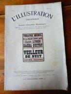 LE VEILLEUR DE NUIT, De Sacha Guitry   (orig :L'ILLUSTRATION  THÉÂTRALE 1911 ) Dos Illustré Par O' Galop Pour MICHELIN - Theatre