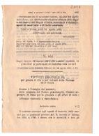 1923 Regio Decreto - Condono Di Punizioni Al Personale Di Custodia Delle Carceri - Prigione - Gesetze & Erlasse