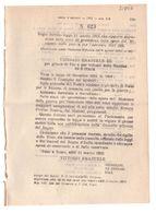 1923 Regio Decreto - Variazione Previsione Di Spesa Del Ministero Della Guerra 1921-22 - Vittorio Emanuele Mussolini - Gesetze & Erlasse