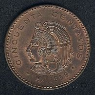 Mexiko, 50 Centavos 1959, AUNC - Mexico