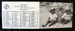 Petit Calendrier Publicitaire De Madagascar Année 1973 Imp Fianarantsoa - Kalenders