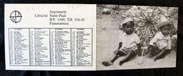 Petit Calendrier Publicitaire De Madagascar Année 1973 Imp Fianarantsoa - Calendriers