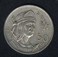 Mexiko, 50 Centavos 1951, Silber, UNC - Mexico
