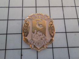 115e Pin's Pins / Beau Et Rare / THEME : VILLES / CHASSE CHASSEUR CHAMBLES ACCA BLASON ECUSSON ARMOIRIES - Informatique