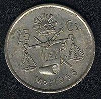Mexiko, 25 Centavos 1953, Silber, XF - Mexico