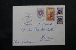 ALGÉRIE - Enveloppe De Alger Pour La France En 1955 , Affranchissement Plaisant   - L 64176 - Covers & Documents