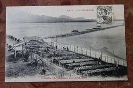 BAIE DE CAM-RANH (VIET NAM / INDOCHINE) - BAIE - L'ATELIER DE SECHAGE AUX PECHERIES - Viêt-Nam