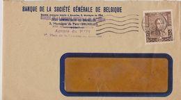 Belgique Lettre Avec Timbre Perforé. - Perfins